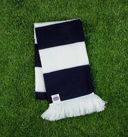 Tottenham Hotspur Colours Retro Bar Scarf - Navy Blue & White - Made in UK