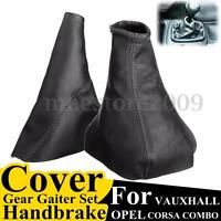 Black Handbrake Gear Gaiter Dust Cover Set For Opel VAUXHALL CORSA 1993-2000
