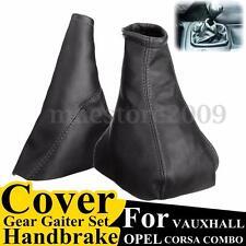 Black Handbrake Gear Gaiter Dust Cover Set For Opel VAUXHALL CORSA 2001-2006