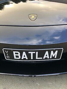 BATLAM Victorian Number Plates. Suite Any Black Or Dark Grey Batman Lamborghini