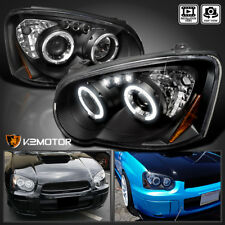 For 2004-2005 Subaru Impreza WRX STi Rs Outback LED Projector Headlights Black