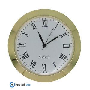 New Quartz Bezel Clock Watch Movement Insert Gold With Black Numerals 23mm-55mm