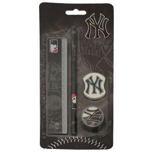 NEW YORK YANKEES 4PC PENCIL STATIONERY GIFT SET SCHOOL COLLEGE NYY NYC MLB