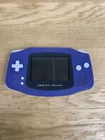 Nintendo Game Boy Advance Purple (AGB-001) - Tested/Working - No Battery Cover