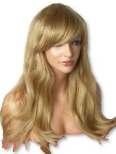 Dark Blonde long Wavy curly fashion Natural womens Ladies Full Wig C-8