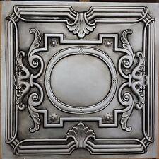 PL15 Faux tin antique silver ceiling tile cafe club pub decor panel 10tile/lot