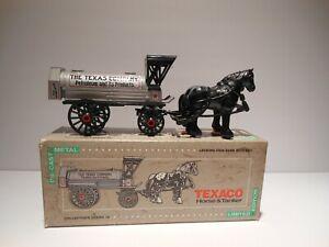 ERTL 1991 Horses and Tank Wagon Bank Texaco Company Gasoline 9390-10VP