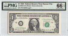United States 1969 Fr. 1903-J PMG Gem UNC 66 EPQ 1 Dollar FRN Kansas City