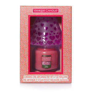 YANKEE CANDLE DREAMING OF LOVE VALENTINE'S DAY SMALL JAR & SHADE GIFTSET NWTS