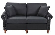 Home Life Upholstered Sofa Linen 2 Person Love Seat Contemporary Pocket Coil 61""