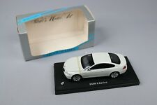ZC953 Minichamps Voiture Miniature 1/43 BMW 6 Series Blanc White