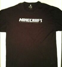 Minecraft Logo Adult T-Shirt 2XL XXL Jinx 100% Cotton BLACK TEE