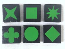 QWIRKLE Lot of 6 GREEN TILES  Game Pieces Replacement Parts 2010 MindWare