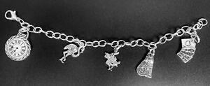 alice in wonderland charm bracelet Set