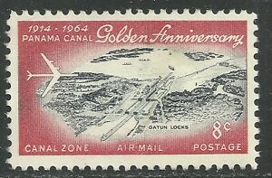 U.S. Possession Canal Zone Airmail stamp scott c37 - 8 cent 1964 issue - mng  x