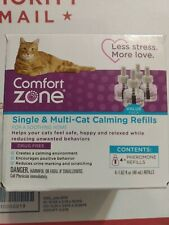 New listing Comfort Zone Single & Multi-Cat Calming Kit For A Soothing Home 4Pk 4 Refill-48m