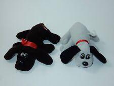 "Tonka 1980's Pound Puppies 9"" Brown & 7"" Grey Plush Stuffed Animals"