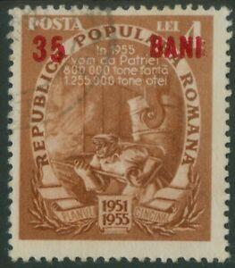 Rumänien 1952 Mi.1356 b @  used Fünfjahresplan,Schmiederi,Schmied