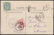 1904 Postage Due Postcard France to Belgium