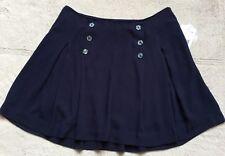 Free People Lover's Lane IIndigo Navy Blue Pleated Skater Skirt, Size 2, NWT