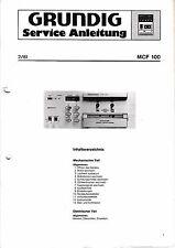 Service Manual-Anleitung für Grundig MCF 100