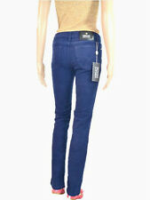 VERSACE Womens New Blue Fashion Luxury Designer Sexy Trousers Pants sz IT24 AT31