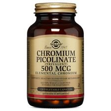 Solgar Chromium Picolinate 500 mcg 120 Vegetable Capsules FREE US SHIPPING
