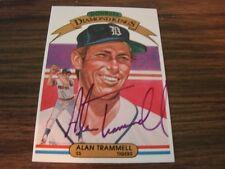1982 Donruss Diamond King # 5 Alan Trammell Autographed Card Detroit Tigers