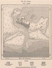 Lagos. Nigeria. Upper Guinea 1885 old antique vintage map plan chart