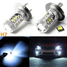 2X Ice Blue 80W H7 8000K 2828 LED Bulbs For Car Low Beam Headlight DRL Fog Light
