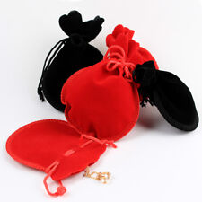 12Pcs Velvet Drawstring Pouch Sachet Gift Bag Rope Wedding Jewelry Party Storage