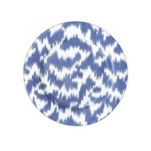 Modern Moiré Paper Salad Plates in Blue