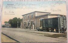 Alte AK Reinsdorf evt.bei Artern oder bei Plauen:Bahnhof,Feldpost gel. ca.1918!