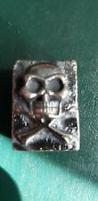2  ozt hand poured .999 silver skull Bar