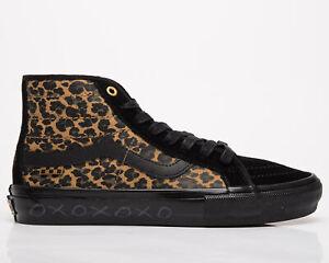 VANS Skate SK8-Hi Decon Unisex Men's Women's Cheetah Black Lifestyle Sneakers
