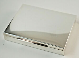 Beautiful Box, Cigarette 925er Silver, Hallmarked, 6 5/16x4 7/8x1 1/8in (Z66