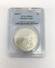2005-P Marine Corps Commemorative Silver Dollar PCGS MS69
