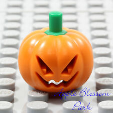 LEGO Orange PUMPKIN MINIFIG HEAD Halloween Scarecrow Monster Jack-O-Lantern Gear
