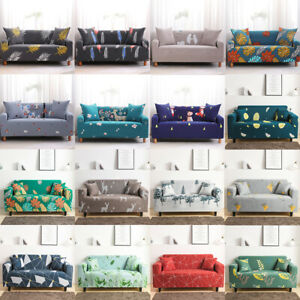 Elastic Floral Print Sofa Couch Cover Stretch Slipcover 2/3Seater Sofa Protector