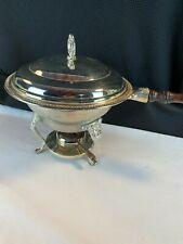 New listing International Silver Co, Silverplated Chafing Dish w/Sterno Can Holder