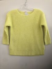 Jcrew Crewcut Girls Yellow Cable Sweater, Size 10 Neon Yellow NWT