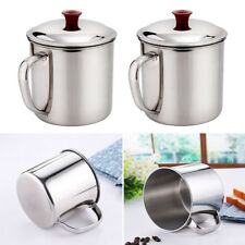 280/400ML Stainless Steel Cup Camping Instant Noodles Drinking Coffee Tea Mugs