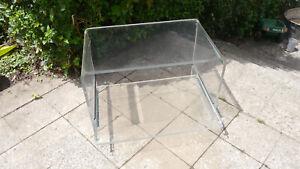 Acryl Plexi Glas Beistelltisch HI-FI Tisch Fernsehtisch - 70er