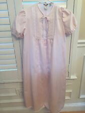 Christian Dior Designer Vintage Girls Nightgown Pink White Lace 10
