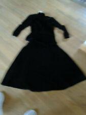 vintage black velvet 2 pc dress small or 6