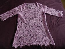 Unbranded Lace Crew Neck 3/4 Sleeve Tops & Shirts for Women