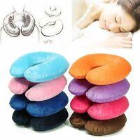 Inflatable Soft Car Travel Head Neck Rest Air Cushion U Pillow Sleep Cushion