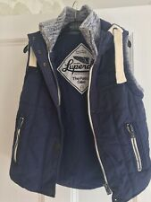 Superdry, Ladies Gilet/Body Warmer, Navy Blue, Size S
