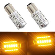 2X 1156 BA15S PY21W LED Daytime Running Light Amber Orange Yellow Bulb 33SMD