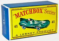 Matchbox Lesney No 41 JAGUAR D TYPE Repro Empty style D Box